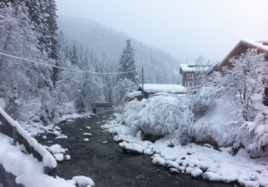 Sneeuwval Oostenrijk Gerlos Zillertal