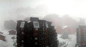 Avoriaz skigebied -sneeuwval