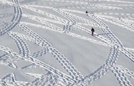 Kunst in de sneeuw