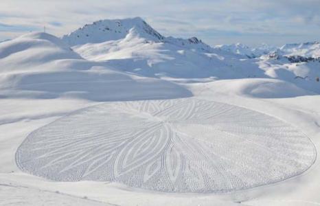 Kunstenaar winter sneeuw