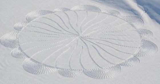 sneeuw kunst artist