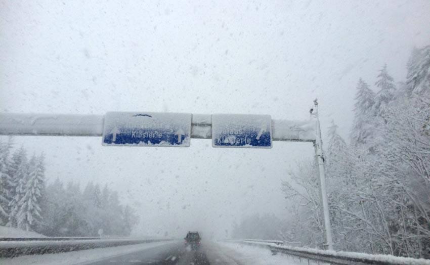 snelweg sneeuw ongelukken
