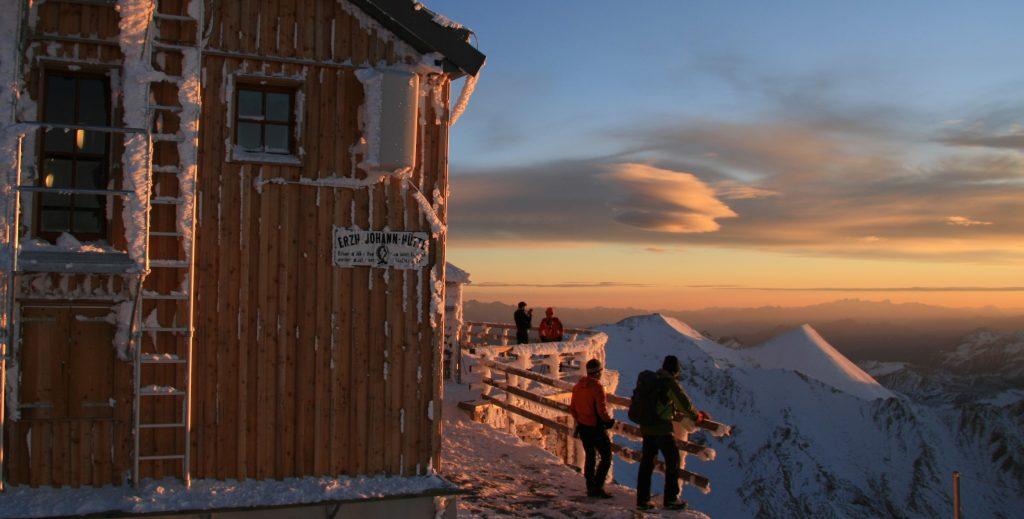 Hoogste berghut van Oostenrijk
