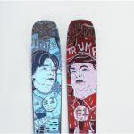 Trump en Clinton ski's