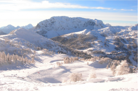 Skigebied Nassfeld-Hermagor biedt vaak fantastische uitzichten.
