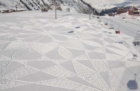 Artist sneeuw kunst