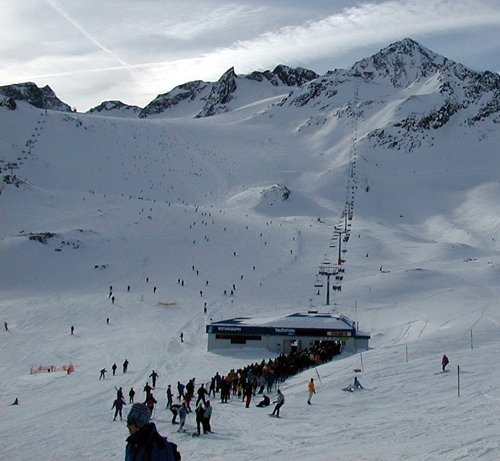 Stubaier Gletscher Lawine