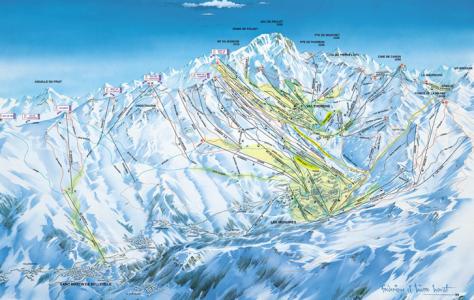 skigebied Les Menuires Les Trois Vallees
