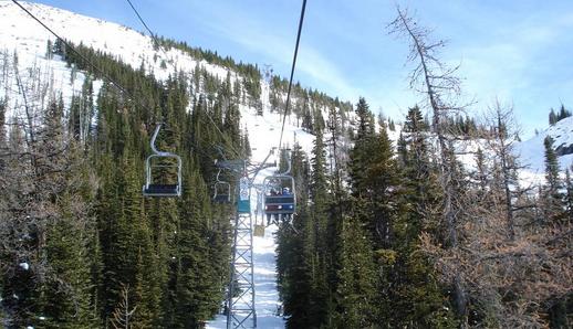 Oude skilift