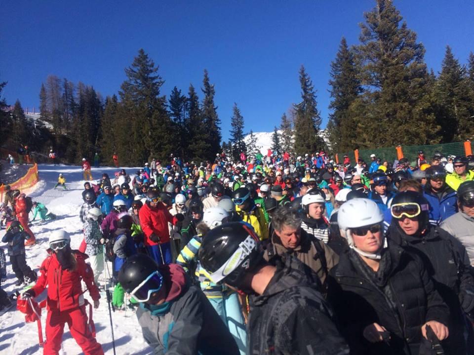 Drukte skilift
