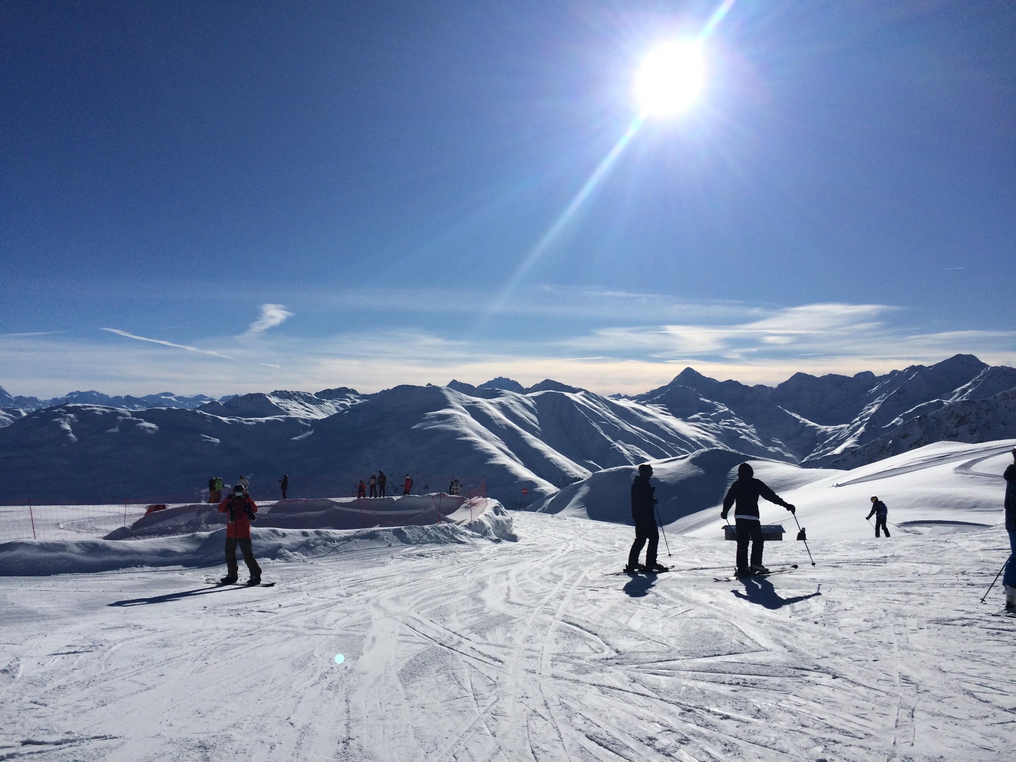 zon sneeuw livigno