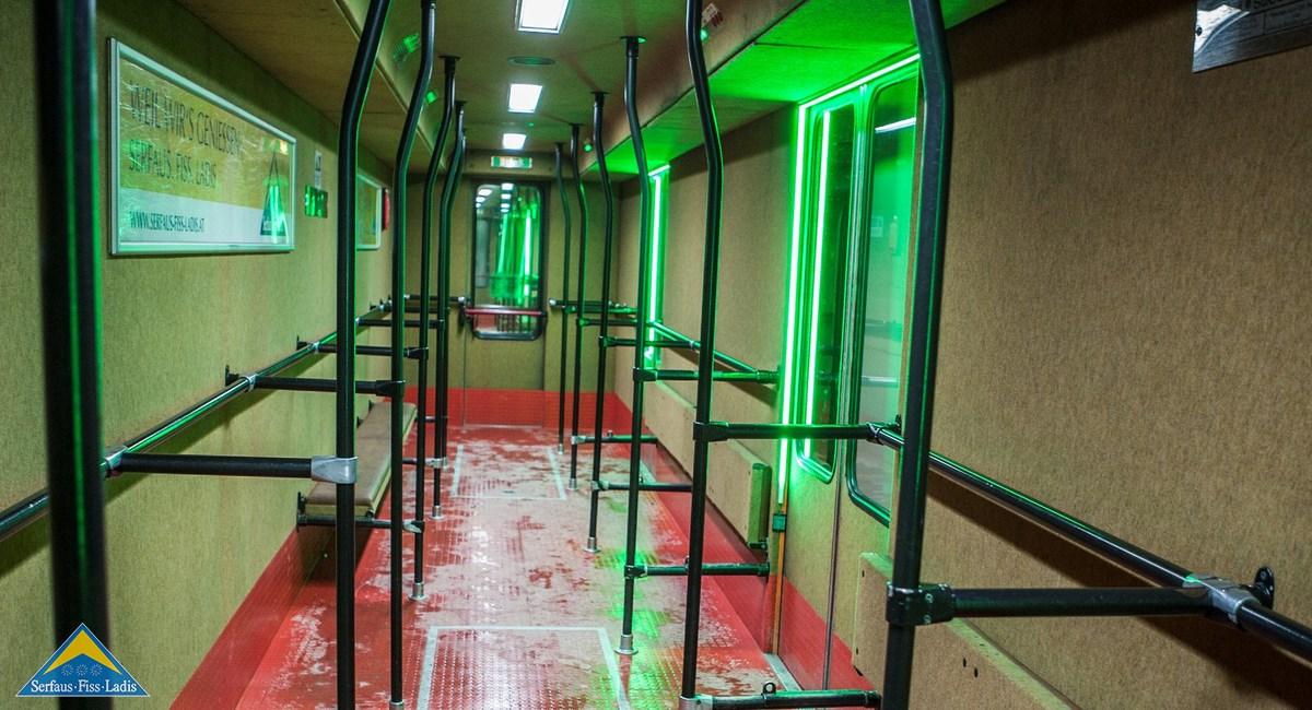 Serfaus Fiss Ladis metro ondergronds
