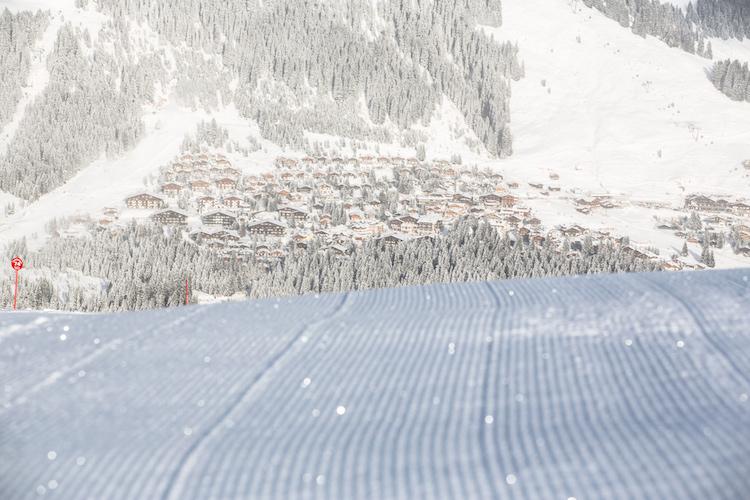 piste sneeuw skigebied