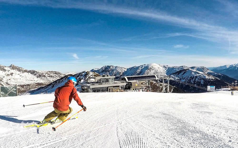 Skiën in de zon