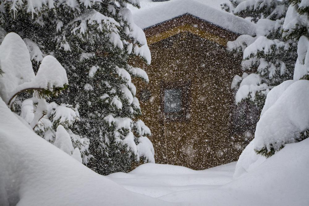 Sneeuw wintersport vakantiepark