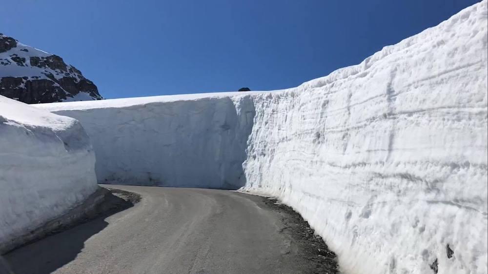 Fonna Glacier Ski Resort weg met sneeuw