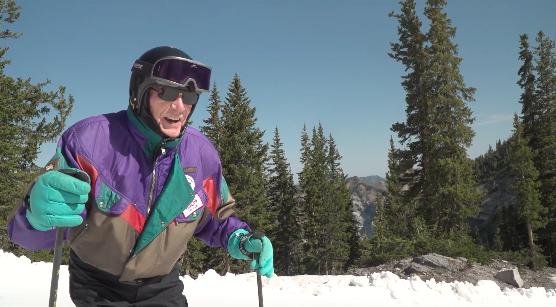 Man Viert 100ste Verjaardag Op De Ski S