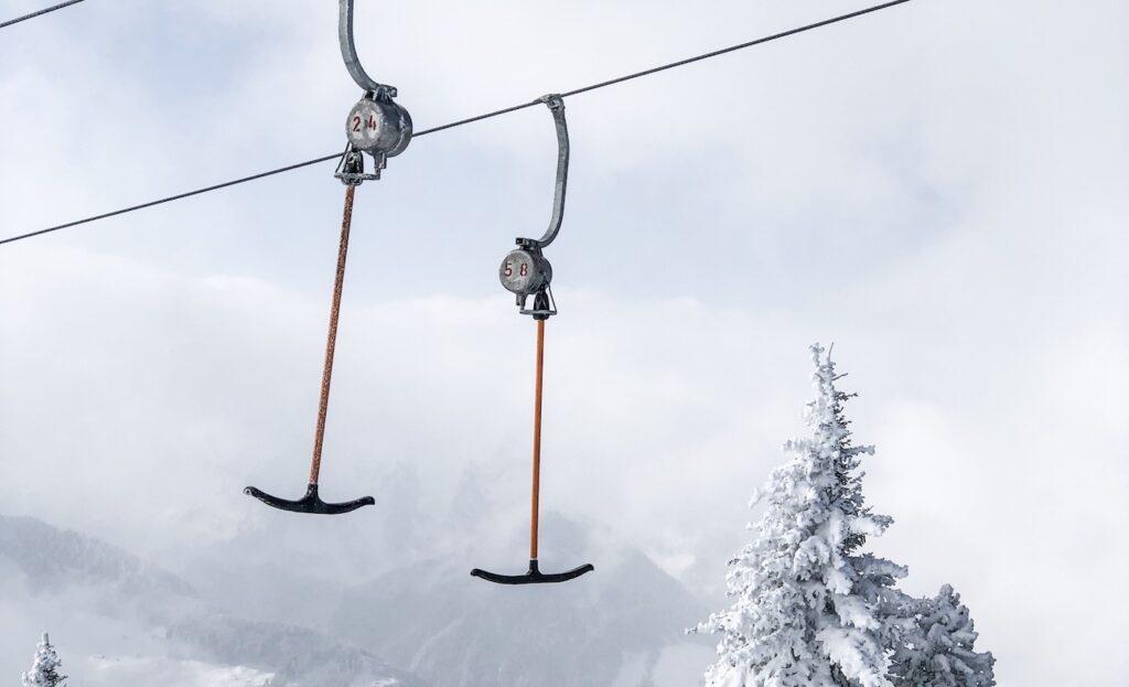 Sleeplift in skigebieden zonder gondels