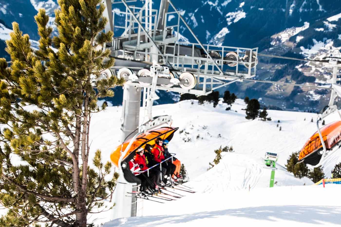 Skilift in Zell am Ziller