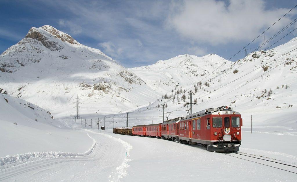 Een wintersport met de trein tijdens de Kerstvakantie.