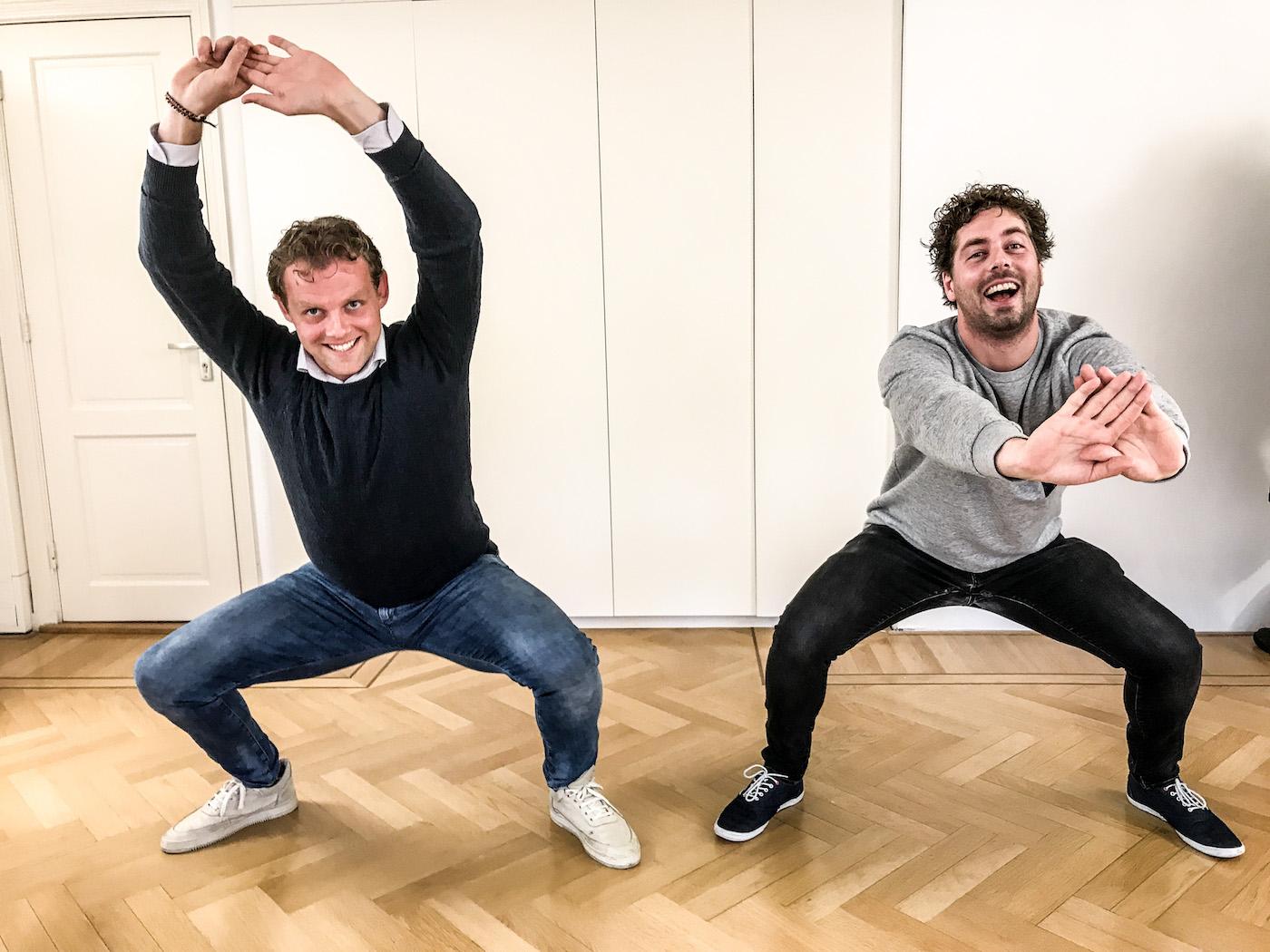 squats oefening voor fit op wintersport