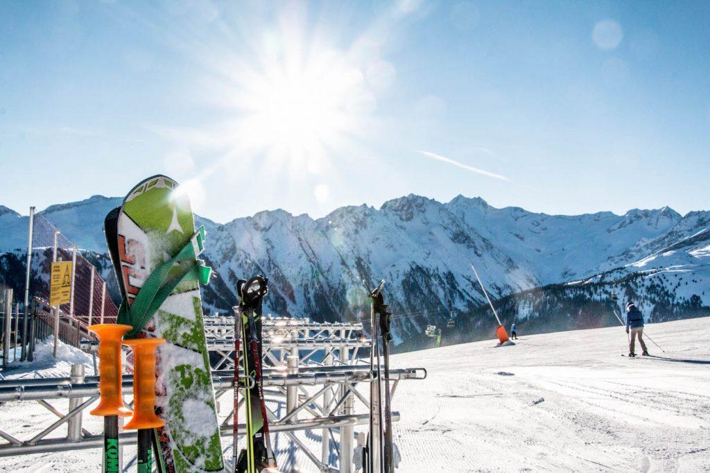 Ski's in skirek in Gerlos wintersport december