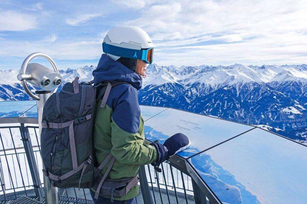 Uitzichtpunt in skigebied Serfaus-Fiss-Ladis