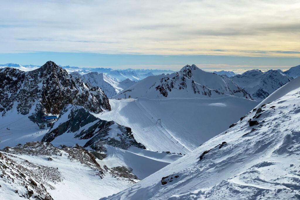 Wintersport stubaital stubaier gletscher sneeuwzekere skigebieden oostenrijk