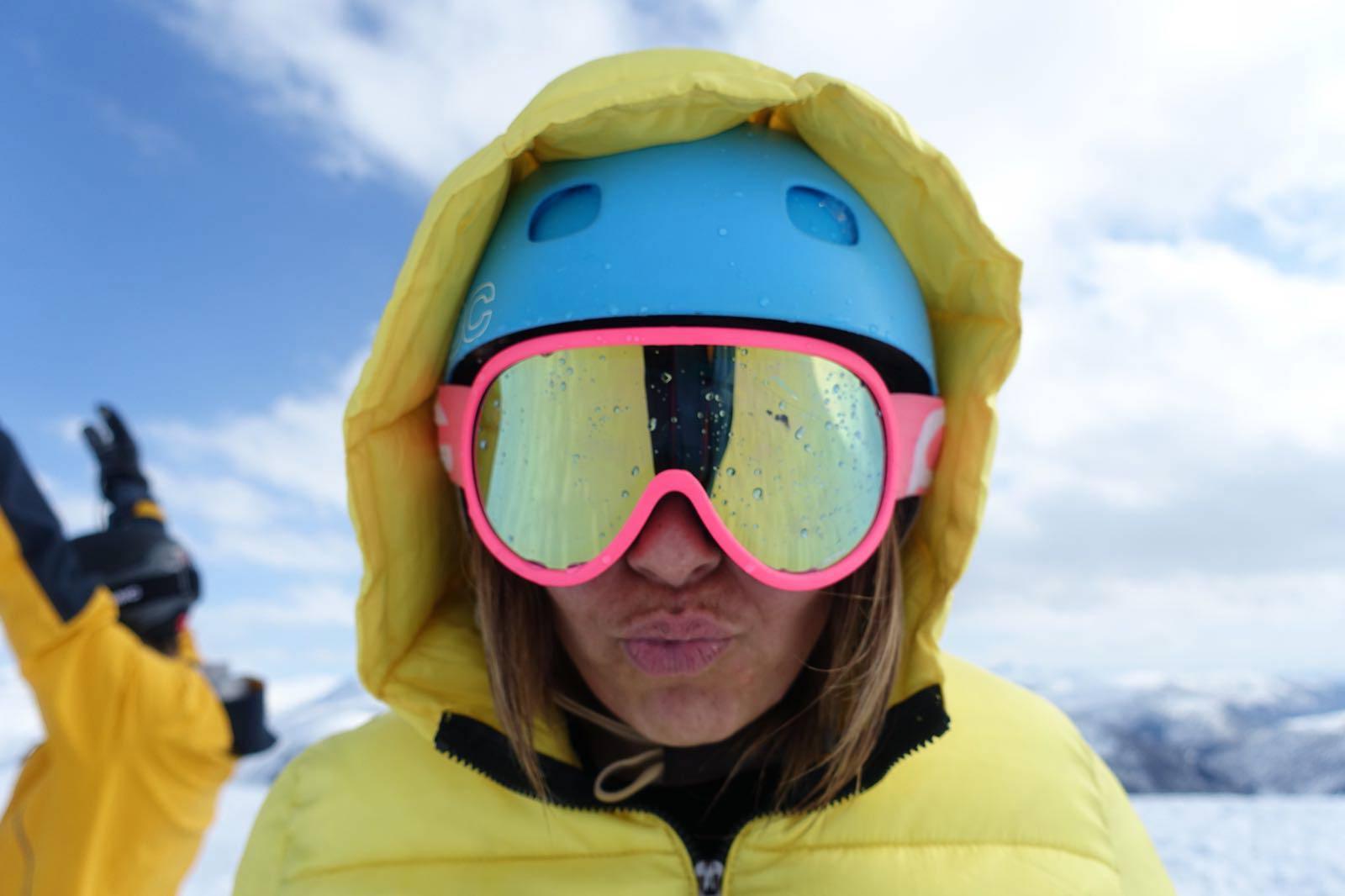 Modepop typetje wintersportgroep
