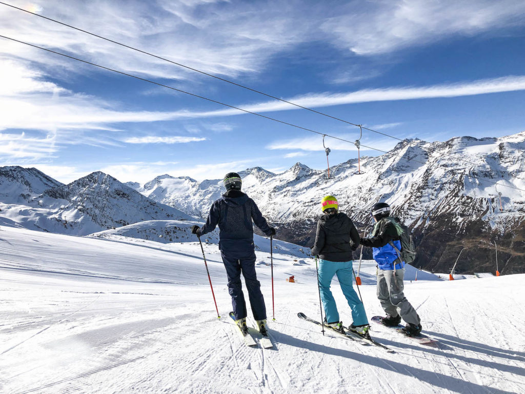 Skien in de herfst in Obergurgl
