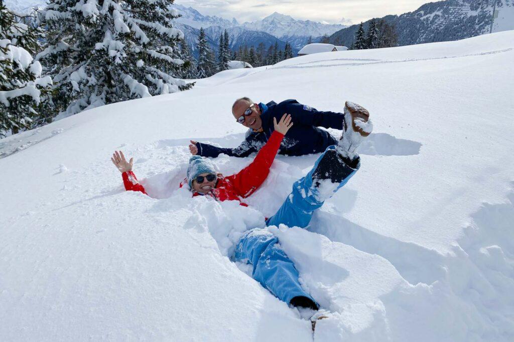 Duik in Sneeuw