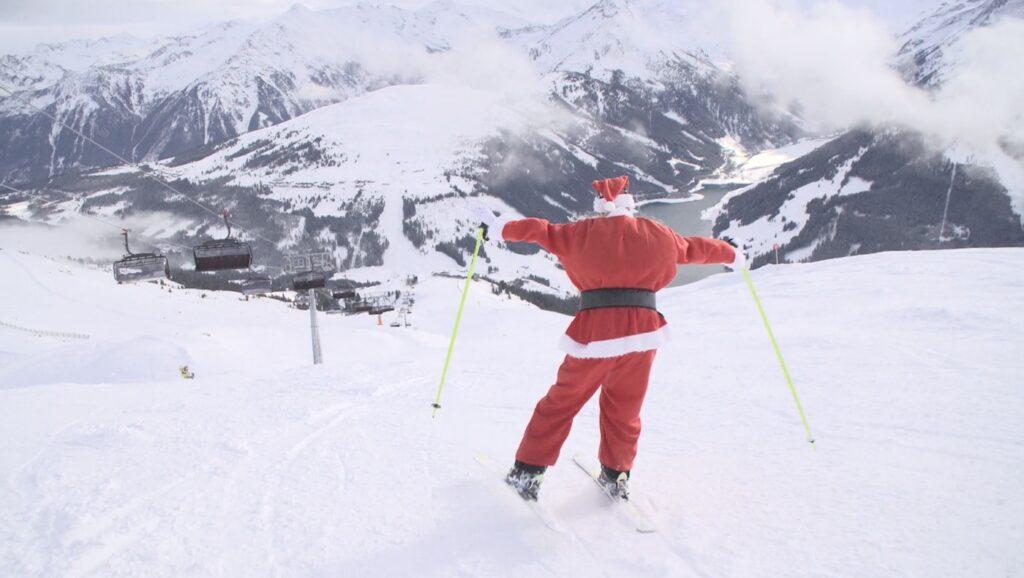 Kerstman op de piste