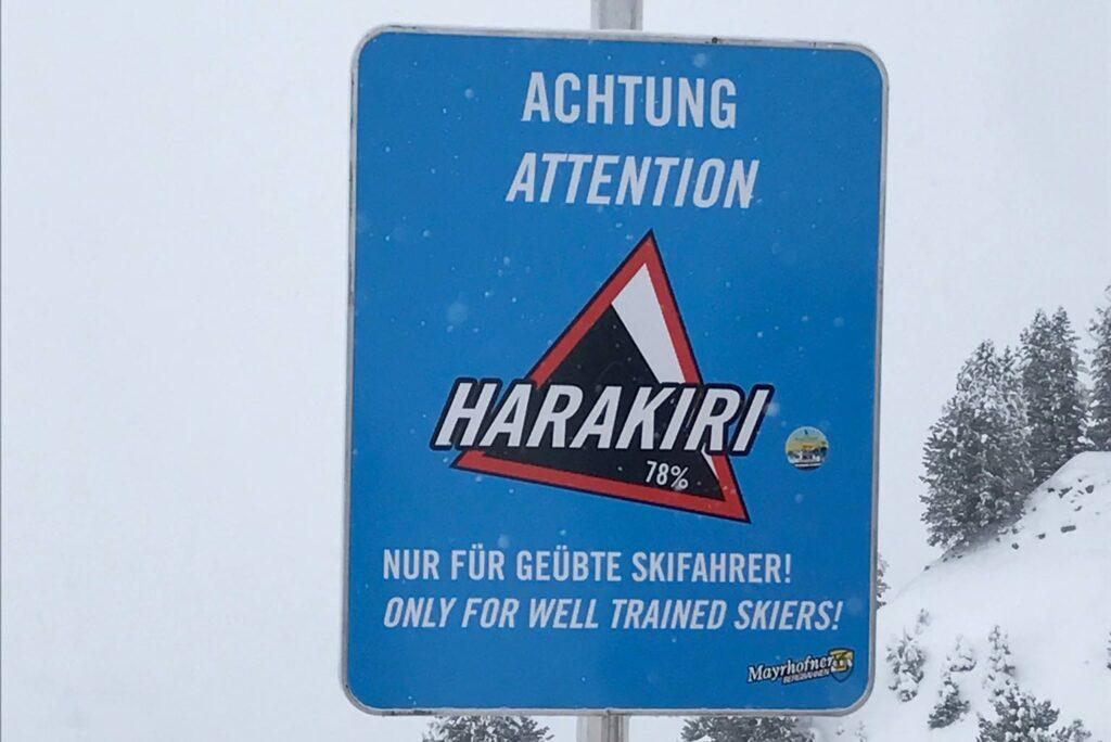 Harakiri in Mayrhofen steilste pistes Oostenrijk