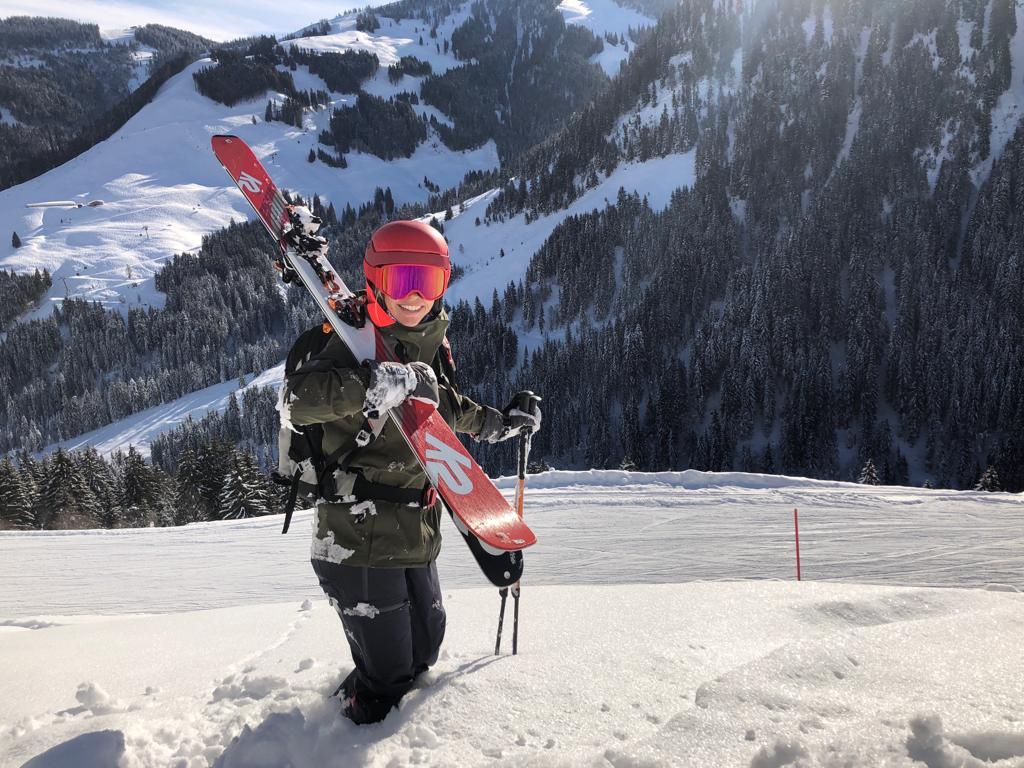 Met toerski's in de diepe sneeuw in Saalbach