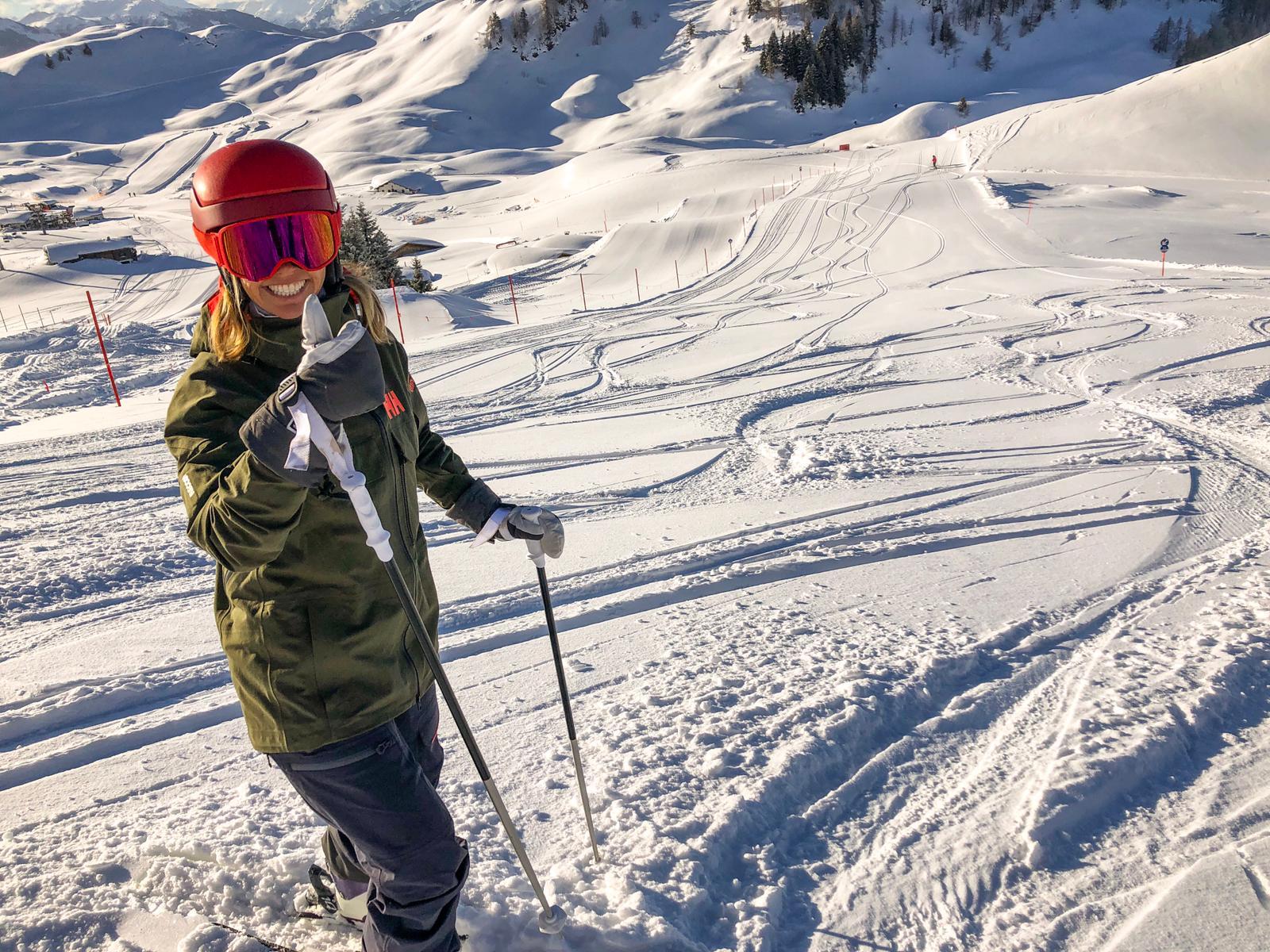 Miranda op de piste in Kitzbühel