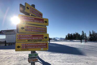 SkiWelt Tour bordje