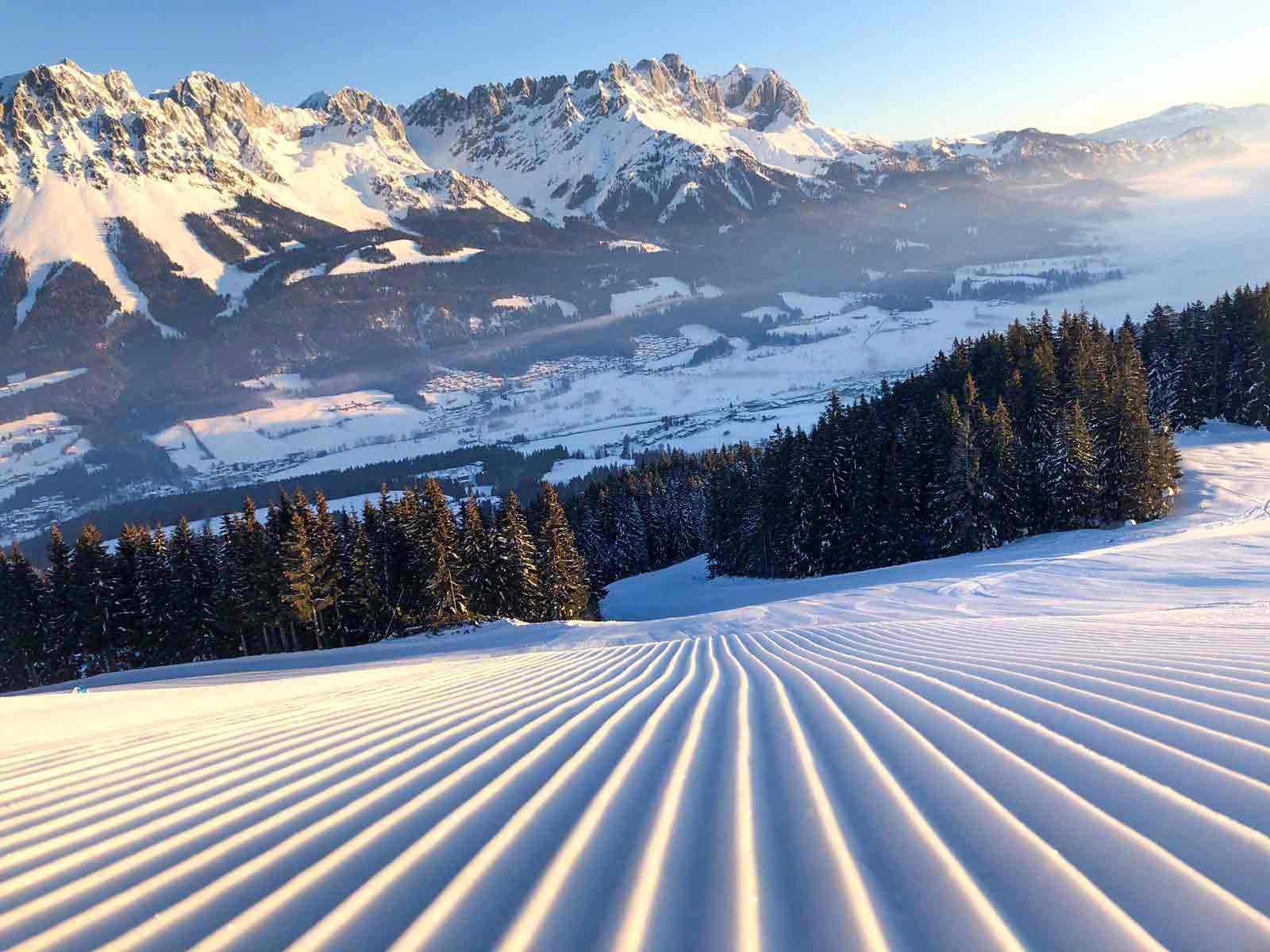 Piste met ribbeltjes in SkiWelt Wilder Kaiser - Brixental