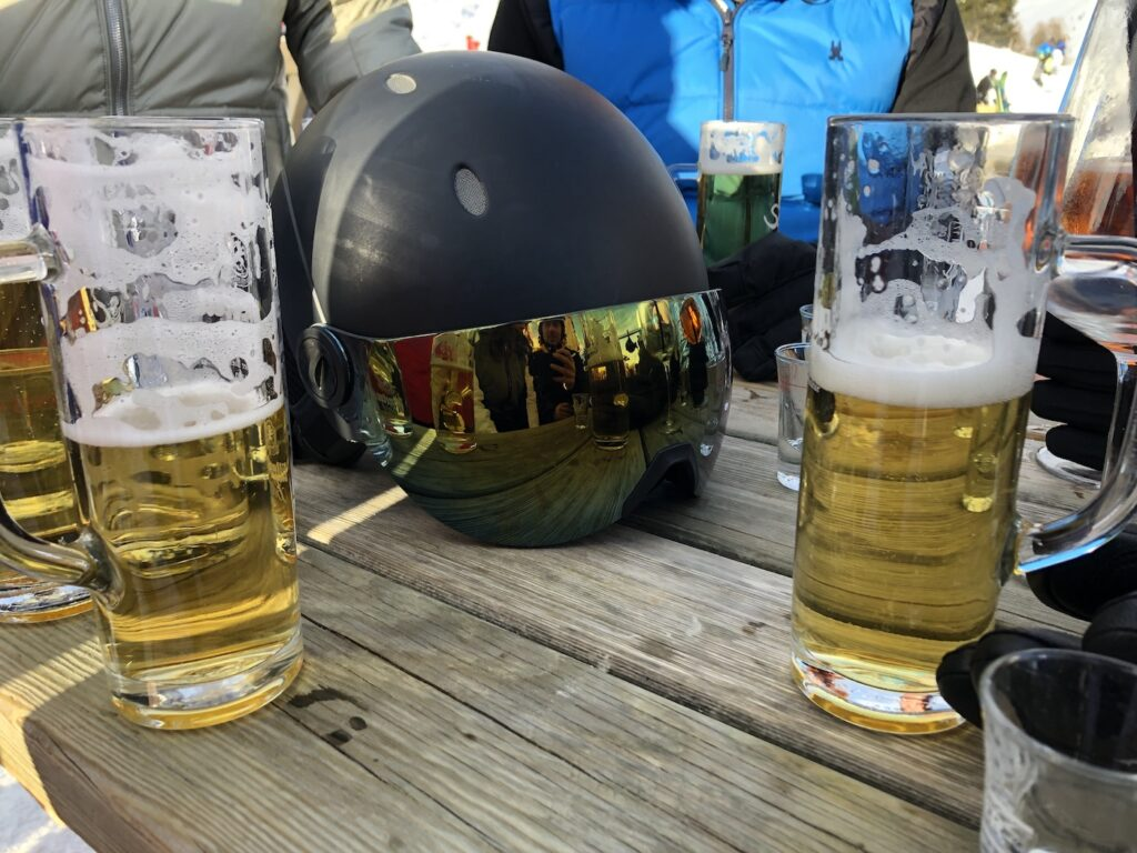 Bier in de après-ski