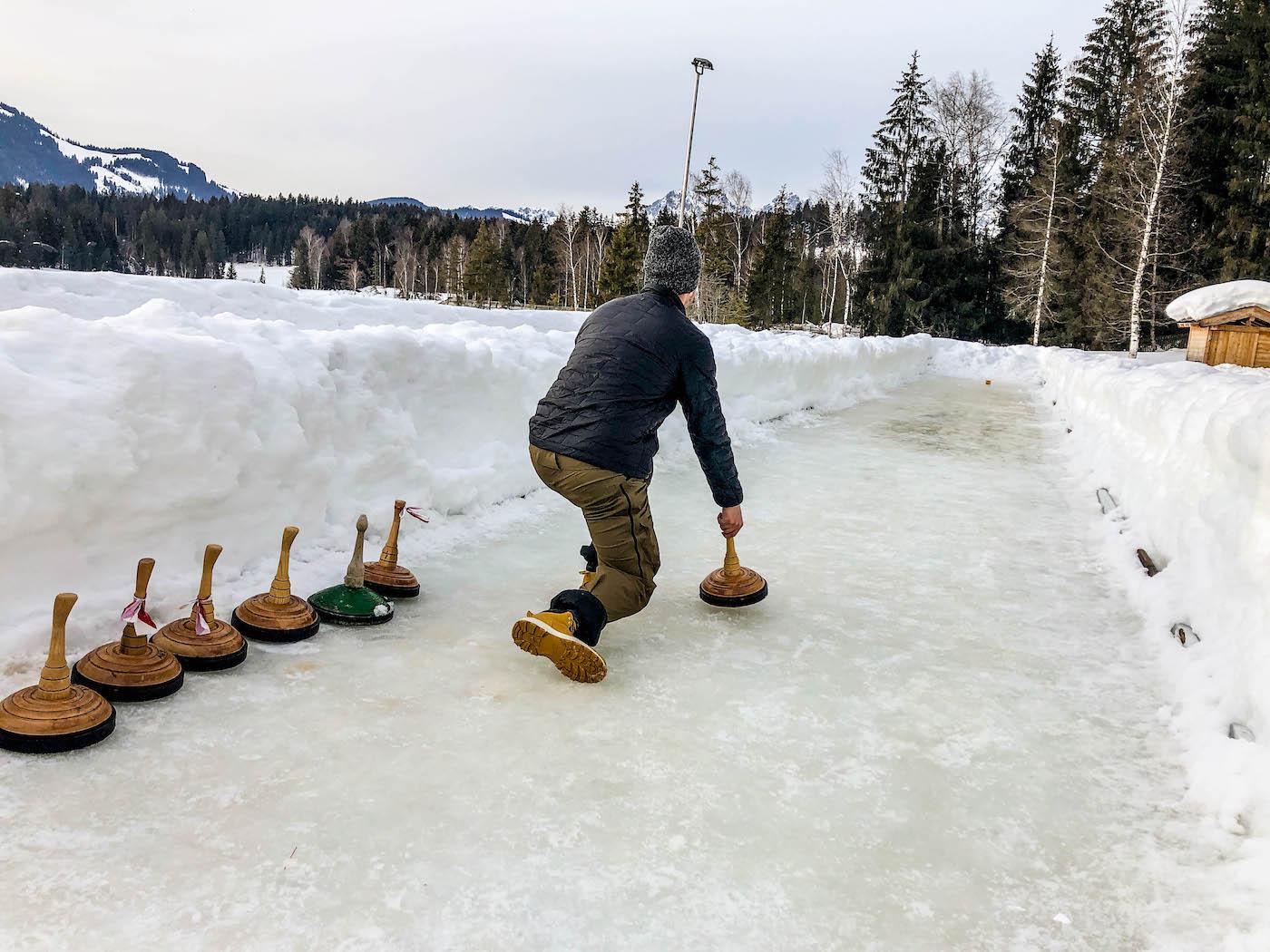 Spelletje op de Schwarzsee in Kitzbühel