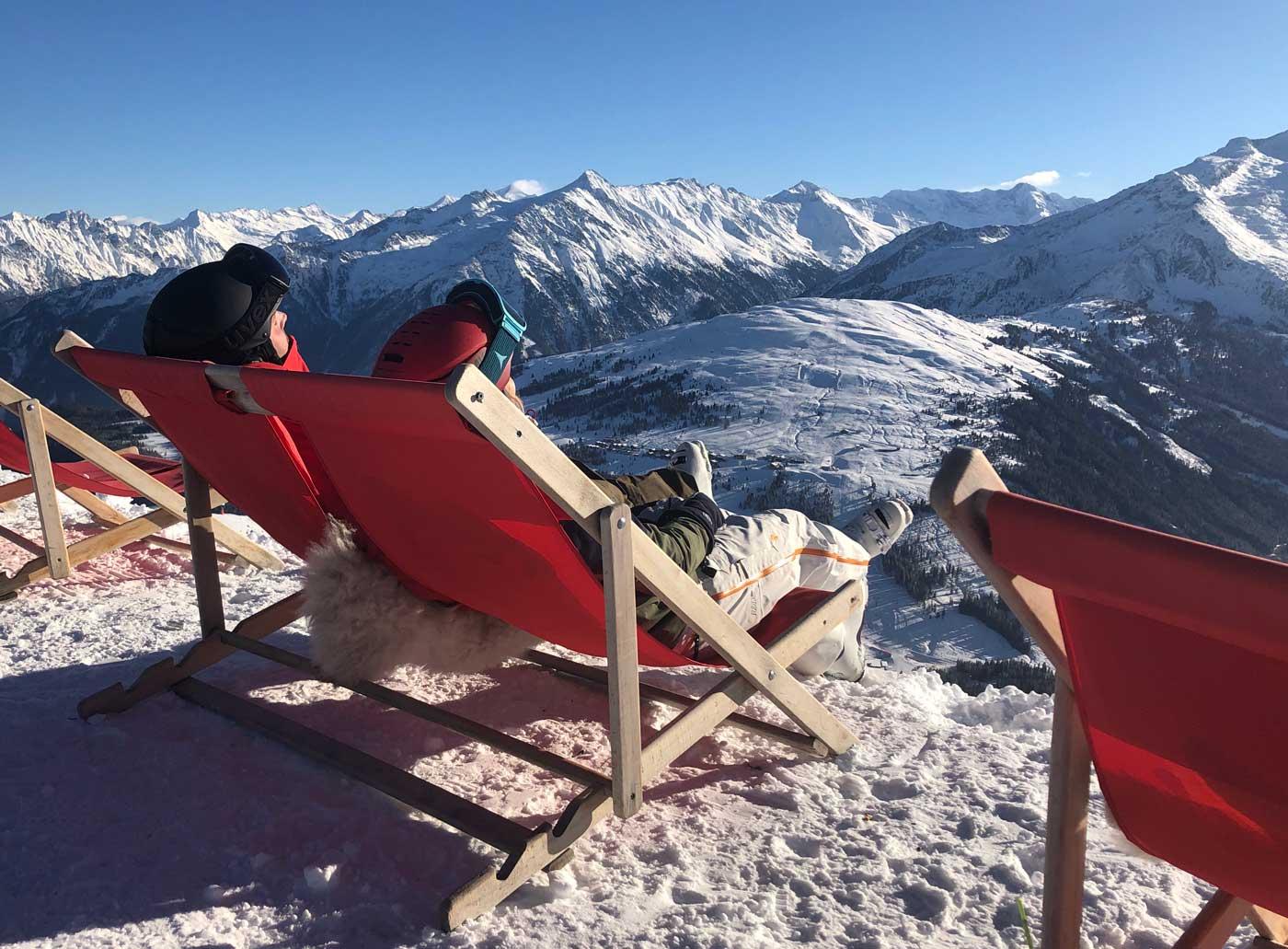 Ligstoeltjes in de Zillertal Arena