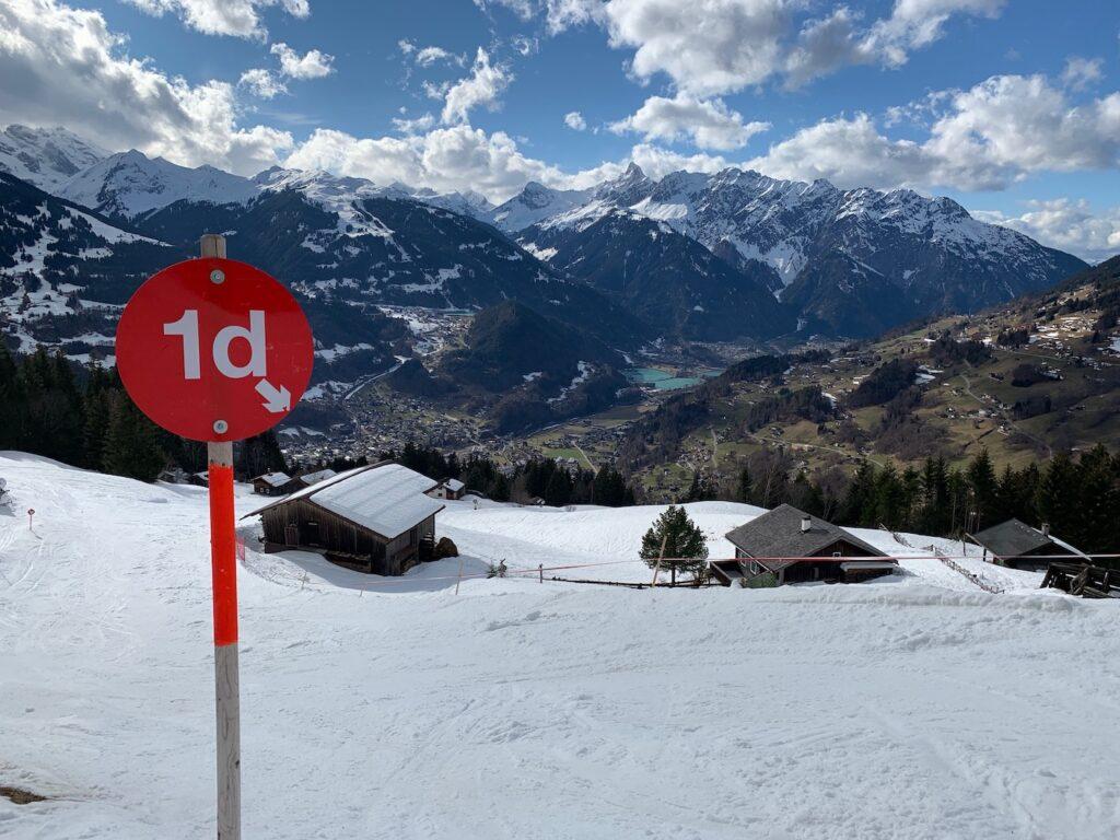 Wintersport lente skiën april