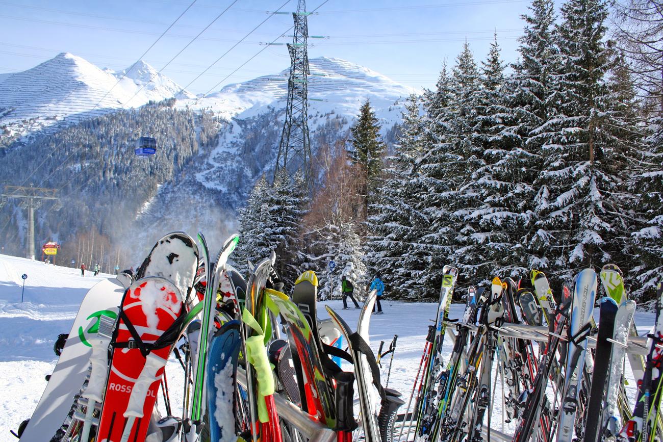 Skirek met ski's