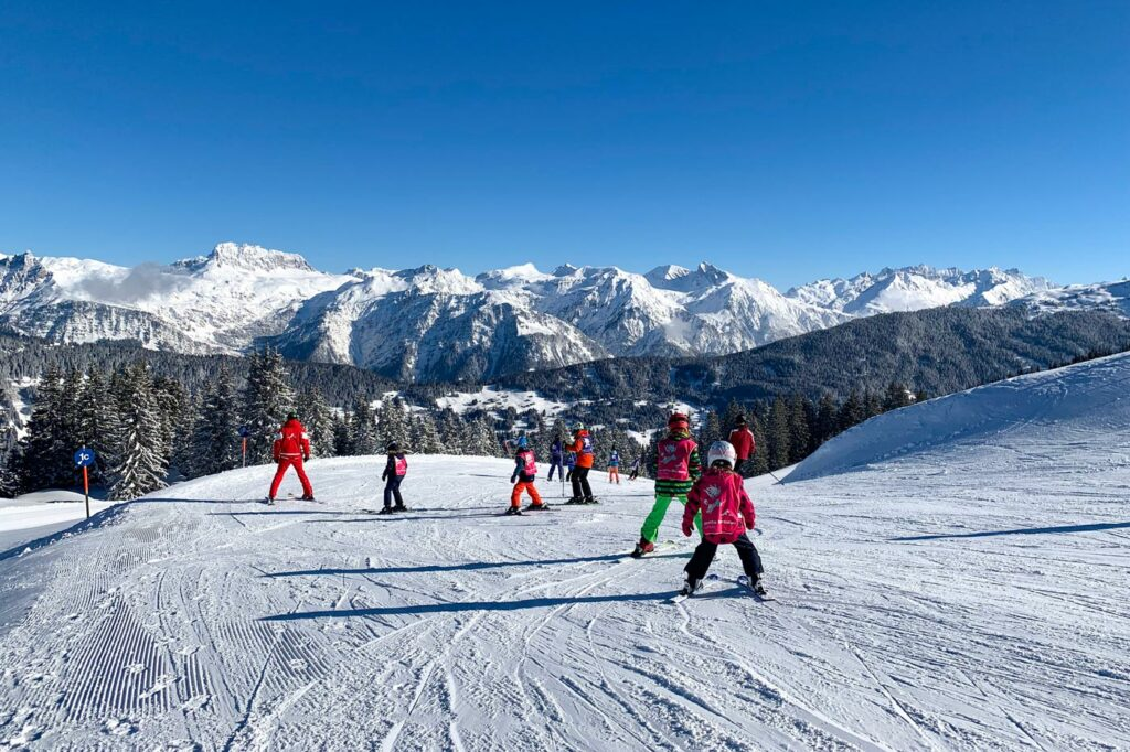 Skiles in kindvriendelijk skigebied Silvretta Montafon