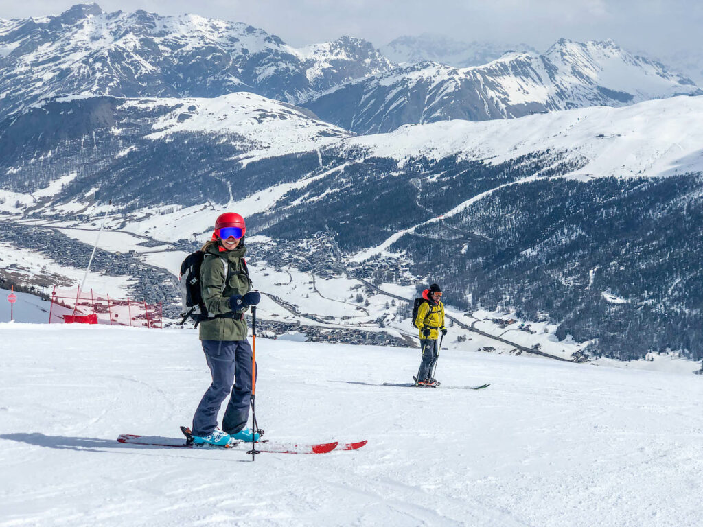 Op de piste in Livigno skiën in april