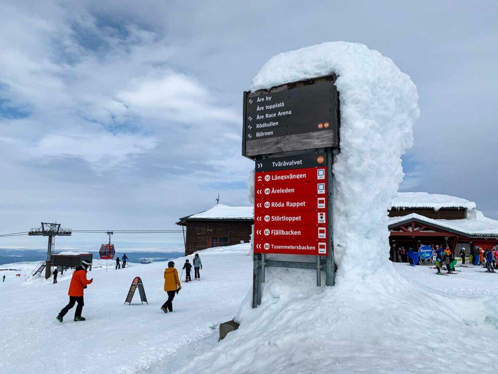Wintersport in Zweden met kerst