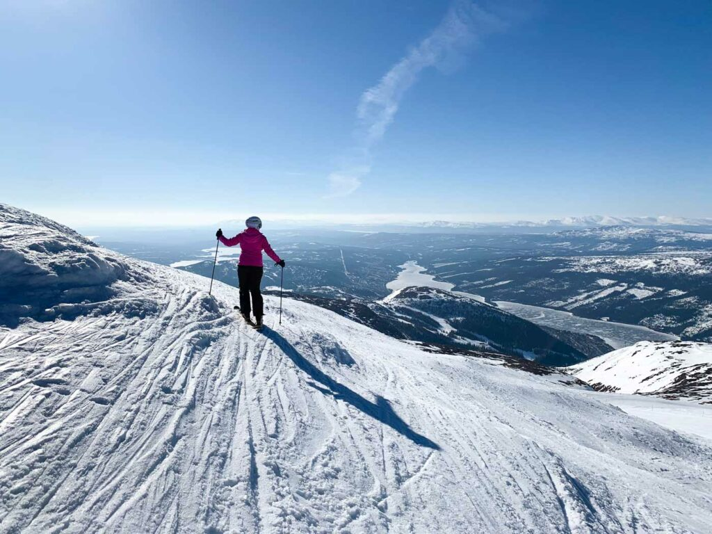 Wintersport Åre, uitzicht op het meer