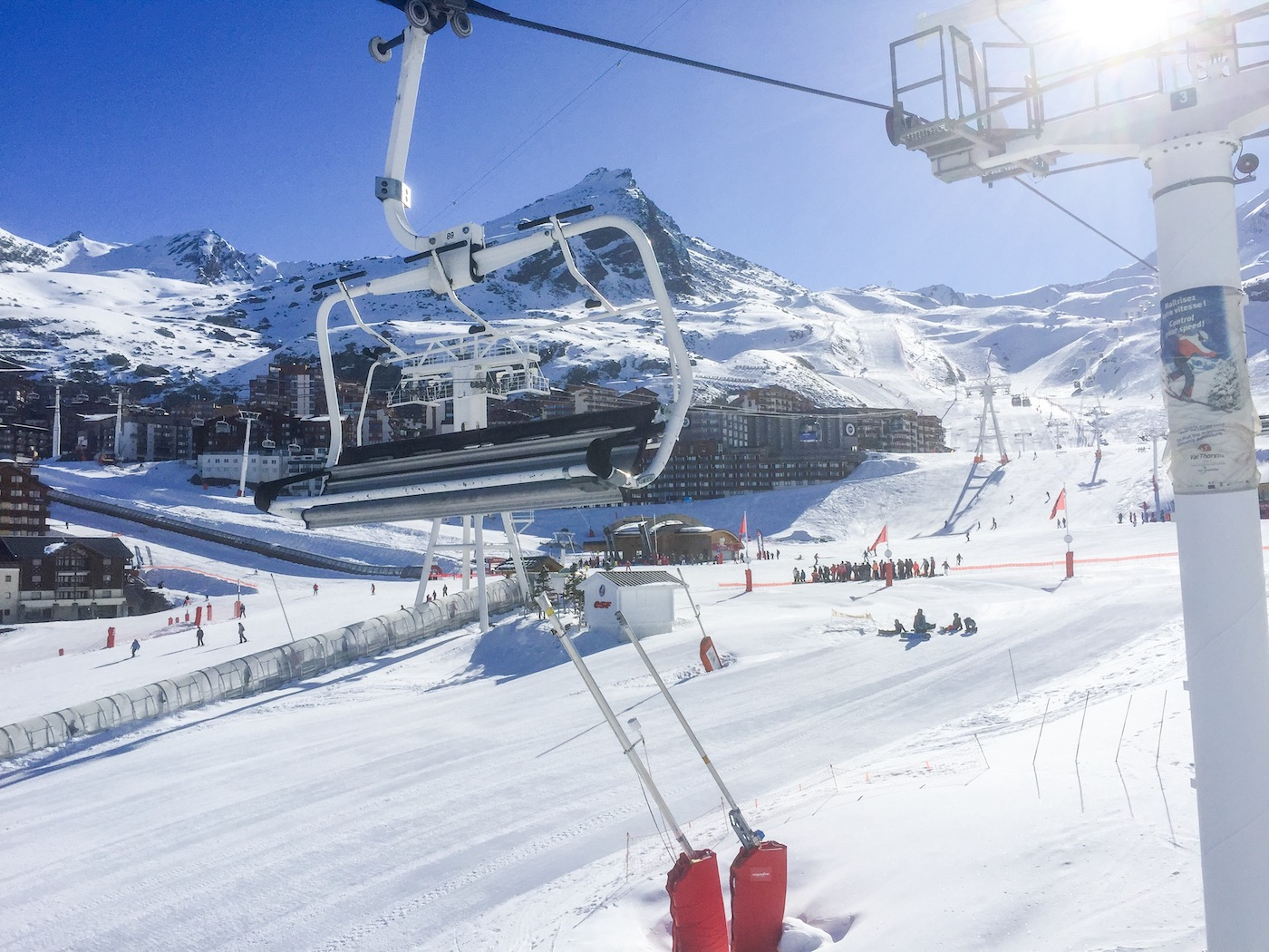 Skilift in Val Thorens
