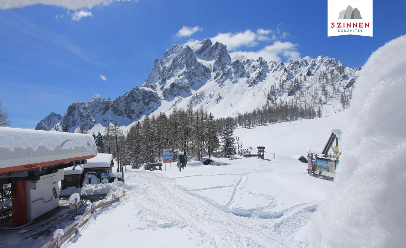 Verse poeder in Drei Zinnen Dolomites