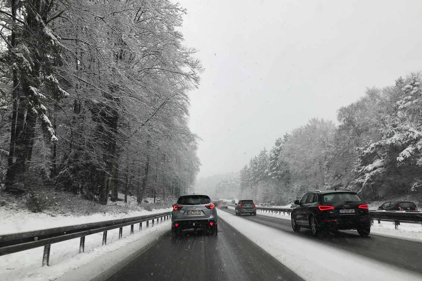 Winterbanden verplicht in Oostenrijk tijdens winterse omstandigheden