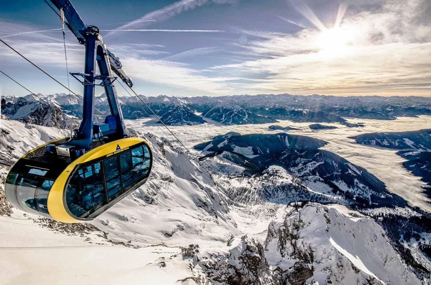 Gondel bij de Dachstein Gletscher